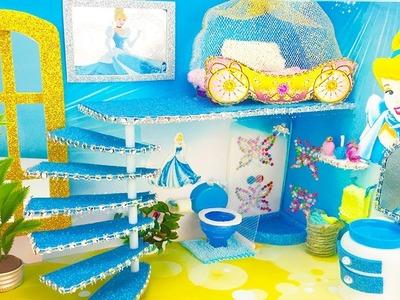 DIY Miniature Dollhouse Room ~ Cinderella Bedroom and Bathroom