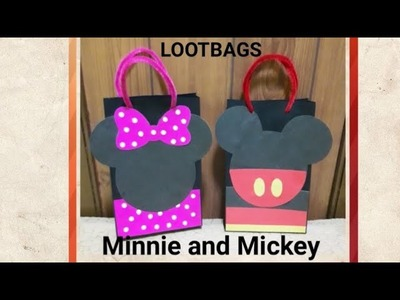 DIY Minnie and Mickey Mouse Lootbags