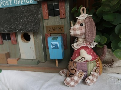 DIY 퀼트 강아지인형 열쇠고리 만들기 │ Patchwork Puppy Dog │ How To  Make Crafts Tutorial