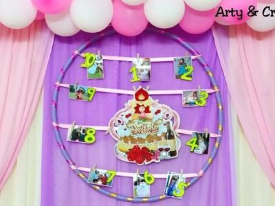 DIY Photo Frame Idea | Hanging Photo Wall Decor Easy | Birthday Decoration Idea by Arty & Crafty