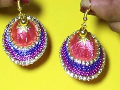 DIY Silk Thread hanging Earrings latest designs | Silk Thread jewellery Making | Fashion Designs