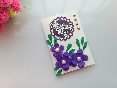 DIY Teacher's Day card. Handmade Teachers day card making idea
