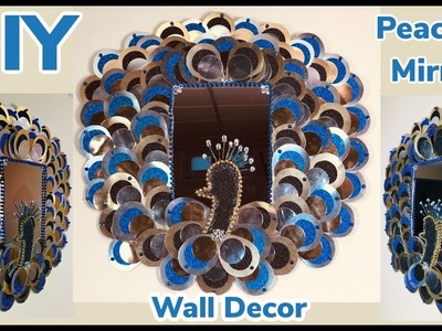 Dollar Tree DIY Peacock Mirror Wall Decor 2019
