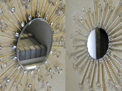 Dollar Tree DIY Sunburst Mirror |Diamond and Pearls Home Decor with Dollar Tree Items |
