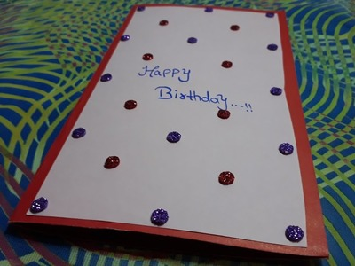 Easy and simple birthday card idea for beginners || diy card || diy with me