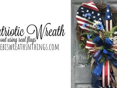 Easy DIY Patriotic Wreath Flag Wreath