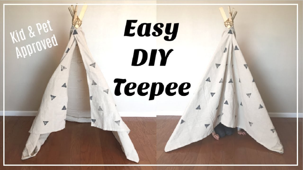 Easy DIY Teepee | No Sew | Kids Room Decor | Momma From Scratch