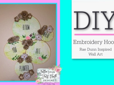 Embroidery Hoop DIY | Pinterest Inspired | Chalk Couture Font | Arts and Crafts Ideas | Rae Dunn DIY
