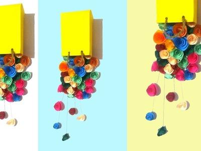 Falling flower from bag wall decor ideas     Diy easy home decor ideas Tuber Tip