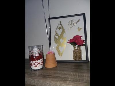 Feathery Love Deco ~ Balloon Weight ~ Hearts Afire Vase ~ Dollar Tree DIY Crafts