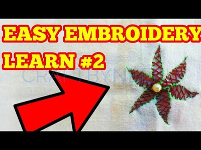 Hand embroidery for beginners Beautiful Hand Embroidery Flowers Stitch by DIY Stitching CROSS STITCH