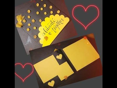 Handmade card l DIY card l card for kids l quilling card tutorial l easy card l theme card craftscr