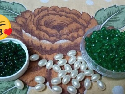 HANDMADE JEWELLERY || How to make Pearl Beaded Necklace || Diy || jewellery making at home || Diyart