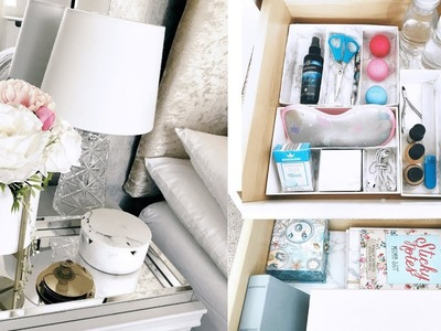 Home Decor 2019| Spring 2019 Bedside table Organisation|DIY Organisation Ideas