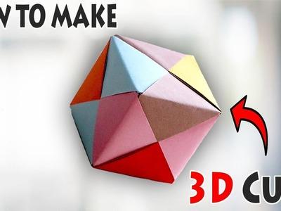 How to Fold an DIY | Origami 3D Cube