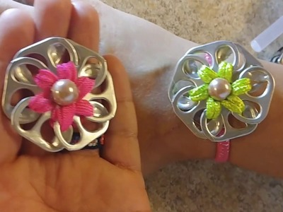 How to make a flower out of soda tabs, diy, crafts