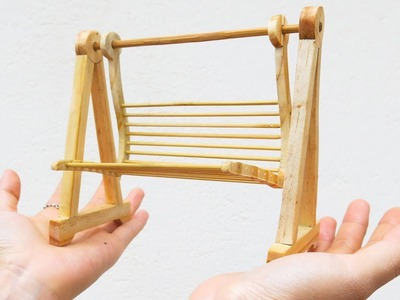 How To Make a Mini Swings Toy by Wood - DIY Wood Crafts