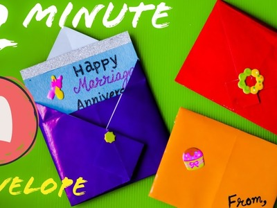 How to make Envelopes for Birthday. Anniversary. New Year. Christmas - DIY Envelope