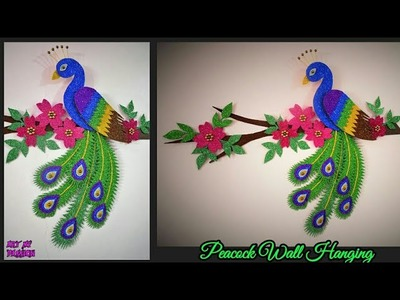 How to Make Peacock Wall Hanging | DIY Wall Decor | DIY Home Decor | DIY Wall Hanging| artmypassion