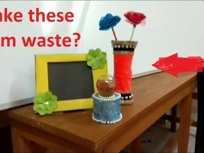 Make Amazing Things From Daily Waste Materials || DIY Crafts ||