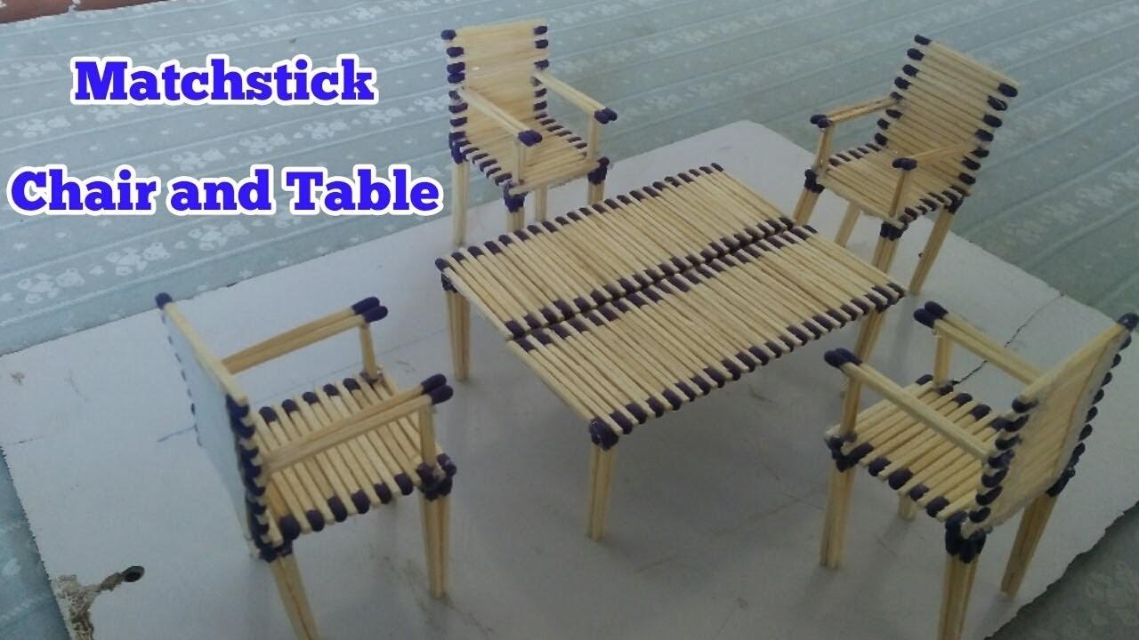 Matchstick Chair and Table | DIY Matchsticks art and crafts