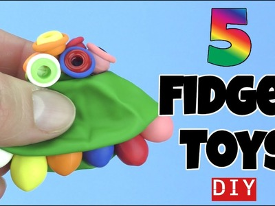 NEW! 5 EASY DIY FIDGET TOYS -HOW TO MAKE TOYS -LEGO, PIPE CLEANERS, STRAWS, BLOCKS -STRESS RELIEVERS
