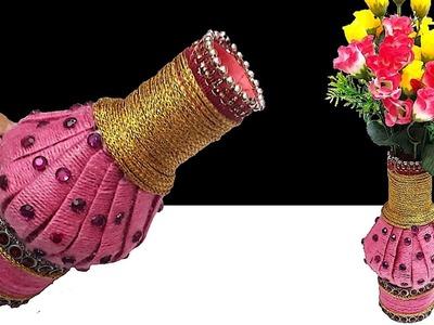 New Design Flower vase From plastic bottle   Best out of waste DIY Flower vase