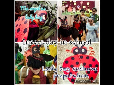 #Nursery special #insect day #DIY ladybug costume # ma angel as lady bug