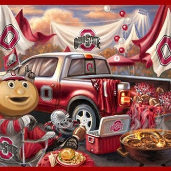 Ohio State Buckeyes TaiLgate Cross Stitch Pattern***LOOK***