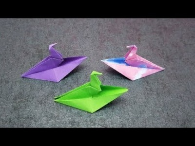Paper Boat in Bird Shape   Origami Bird Boat   DIY paper crafts   Easy Origami step by step Tutorial