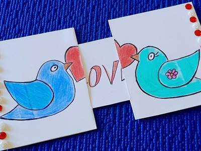 Postcard with a surprise for loved ones. Drawing postcards DIY