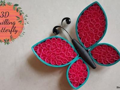 Quilling Butterfly | DIY Butterfly | 3D Quilling Butterfly