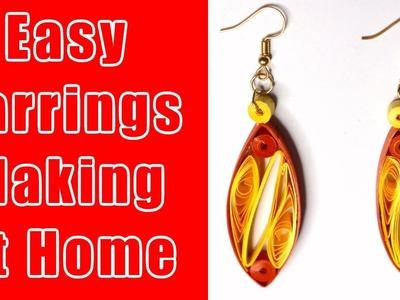 Qulling DIY EarRing | Easy Earrings Making At Home