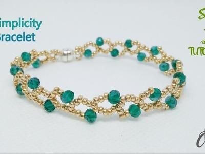 """Simplicity"" bracelet I How to make bracelet I DIY Beaded bracelet I Tự làm vòng tay"