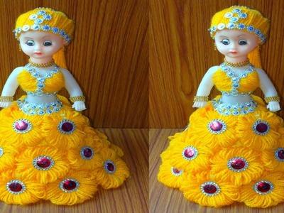 ऊन से गुड़िया सजाने का आसान तरीका.DIY DOLL DECORATION.OON KI GUDIYA.WOOLEN DOLL DECOR