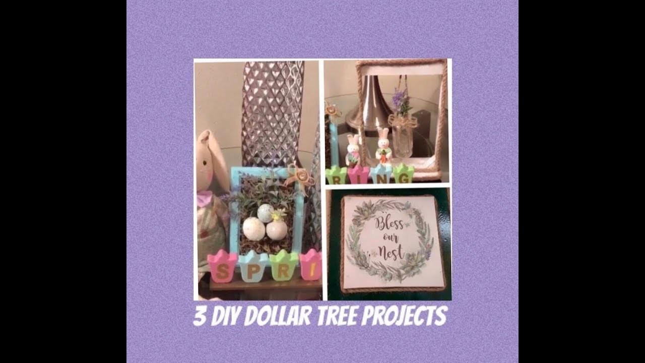 3 Dollar Tree Diy Spring Farmhouse Home Decor Projects