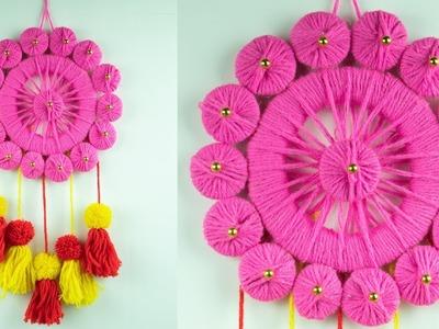 Amazing DIY Door Hanging Toran Making At Home- Easy Door Toran From Woolen- Best Out of Waste