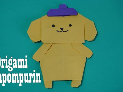 Crafts for kids with paper Origami Pompompurin ||  Preschool crafts, Preschool crafts