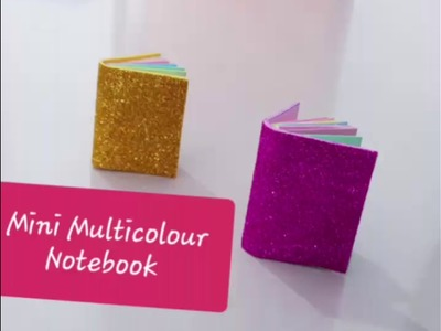 Cute Mini Notebook.Origami.Multicolour Notebook.Miniature.DIY School Supplies.Back to school