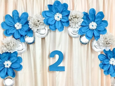 Decoration Ideas for Birthday | Floral Decoration for Baby Shower | Giant Paper flowers decoration