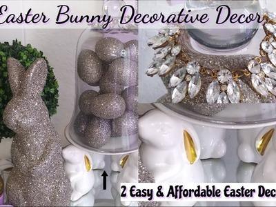 Diy 2-Easter Bunnies Decorative Decor. Easy & Affordable Ideas