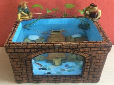 DIY AQUARIUM FISH OF FOAM BOX - AQUARIUM SETUP - MR DECOR