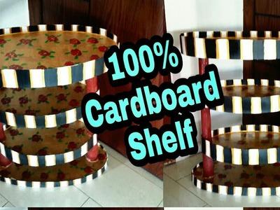 DIY Cardboard Furniture. Cardboard Shelf. Best out of waste stuff Room Organization