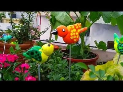 DIY CLAY BIRD ll how to make clay bird ll clay bird ll terrace garden