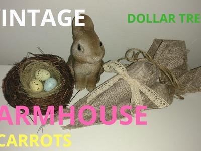 Diy farmhouse carrots. diy farmhouse Easter decor. diy Easter decor