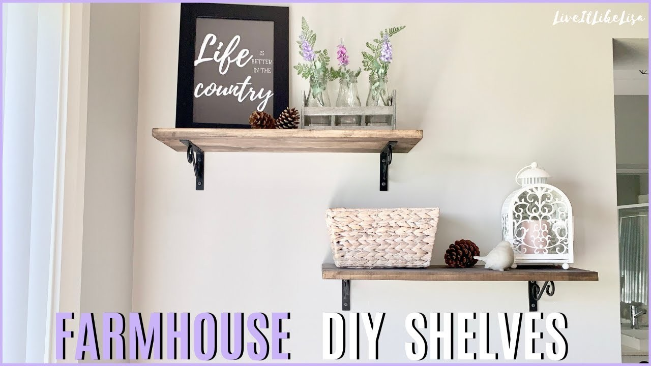 DIY FARMHOUSE Decor | Rustic Farmhouse Wall Shelves