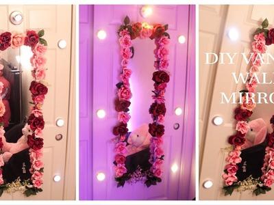 DIY FLOWER VANITY WALL MIRROR | BUDGET BAE