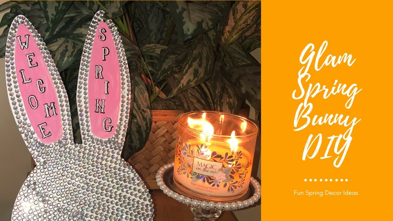 DIY Glam Bunny Sign | Fun Decor for Spring