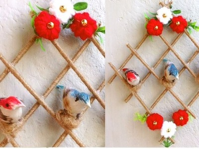 DIY. Home Decoration From Waste Materials. Bird House Wall Hanging Best Out Of Waste