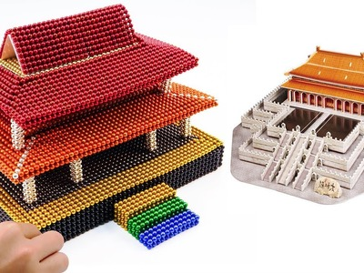 DIY How To Make Rainbow Forbidden City With 50.000 Magnetic Balls   Surprise Balls